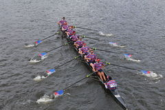 Pennsylvania University races in the Head of Charles Regatta Stock Photos