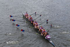 Pennsylvania University races in the Head of Charles Regatta Royalty Free Stock Images