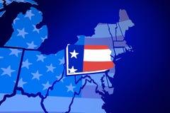 Pennsylvania USA Flag United States America Map Royalty Free Stock Photos