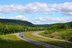 Pennsylvania vista and roads. Stock Image
