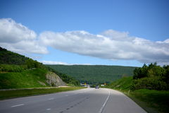 Pennsylvania vista and roads. Royalty Free Stock Images