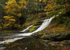 Pennsylvania Waterfall In Autumn Royalty Free Stock Photography