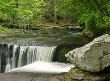Pennsylvania Waterfall - Delaware Water Gap Royalty Free Stock Photos