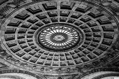Pennsylvanian Rotunda Ceiling. Black and white ceiling of the rotunda at the Pennsylvanian in Pittsburgh Stock Images