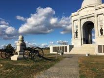 Pennsylwania zabytek przy Gettysburg pole bitwy Gettysburg, Pennsylwania obraz stock