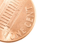 Penny. A one cent penny on white background Stock Photography