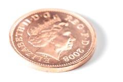 Penny. A shiny one pence piece Stock Photos