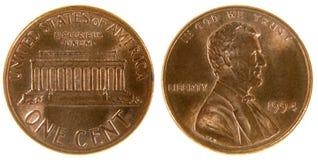Penny americano Fotografia Stock Libera da Diritti