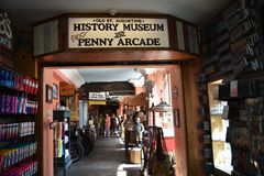 Penny Arcade at Old Town St. Augustine, Florida royalty free stock image