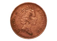 1 Penny Barbary partridge coin, Bank of Gibraltar. Obverse, 1988. 1 Penny Barbary partridge coin, Bank of Gibraltar. Obverse, issued on 1988 royalty free stock photography