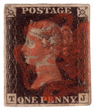 Penny Black First World postage stamp Royalty Free Stock Photo