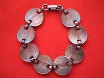 Penny bracelet. Back of a penny bracelet Stock Images