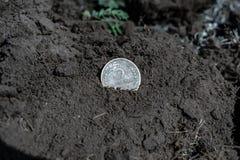 Penny bronzeo di denominazione della moneta URSS 1935 fotografie stock