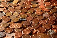 Penny da cielo Fotografie Stock