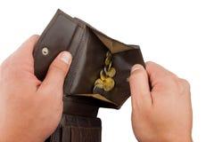 Penny dans une pochette brune Image stock