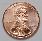 Penny degli Stati Uniti Lincoln Fotografia Stock