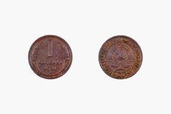 Penny 1924 della moneta di rame 1 Immagine Stock