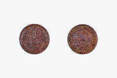 Penny 1924 der Kupfermünze 1 Stockbild