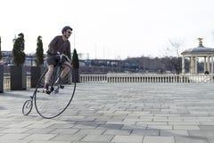 Penny Farthing Bicycle en Philadelphia fotos de archivo