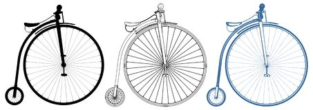 Penny-Farthing Bicycle Illustration Vector Stock Images