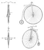 Penny-Farthing Bicycle Illustration Vector Royalty Free Stock Photos