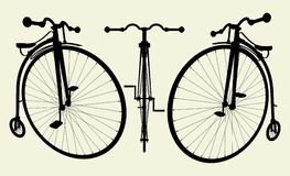Penny-Farthing Bicycle Vector 02. Penny-Farthing Bicycle Illustration Vector Stock Photos