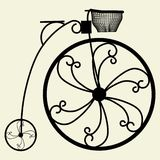 Penny-Farthing Bicycle Vector 03. Penny-Farthing Bicycle Isolated Illustration Vector Royalty Free Stock Images