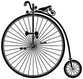 Penny Farthing Bicycle. Vintage penny farthing high wheel bicycle royalty free illustration