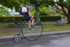 Penny Farthing Fast Royalty Free Stock Photos