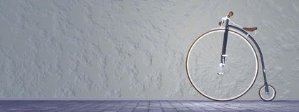 Penny-farthing or high wheel bicycle - 3D render Royalty Free Stock Photo