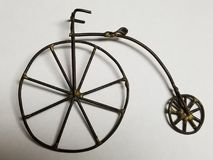 Penny Farthing High wheel bicycle art stock images