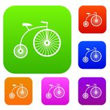 Penny-farthing set collection Royalty Free Stock Image