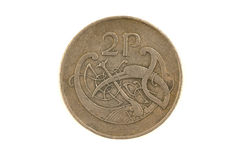 2 penny irlandais Images stock