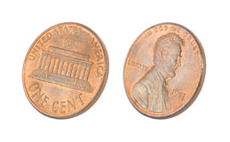 Penny isolated on white Stock Photo