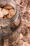 Penny Jar Imágenes de archivo libres de regalías