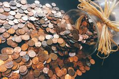 Penny jar  Royalty Free Stock Image