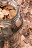 Penny Jar Royalty Free Stock Images