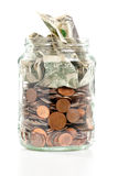 Penny jar Royalty Free Stock Photography