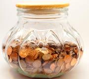 Penny Jar Savings Fund grande Fotografía de archivo libre de regalías
