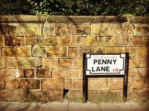 Penny Lane à Liverpool photos libres de droits