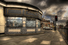 Penny Lane. HDR image of Penny Lane shelter in the middle of a roundabout made famous by The Beatles song Stock Images