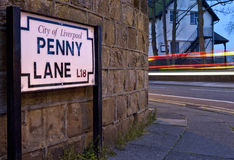 Penny Lane em Liverpool imagem de stock