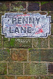 Penny Lane gatatecken arkivbilder