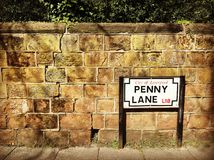 Penny Lane in Liverpool royalty free stock photos