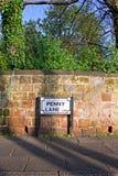 Penny Lane, Liverpool, Reino Unido imagem de stock