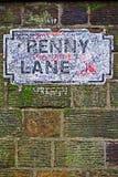 Penny Lane-straatteken Stock Afbeeldingen