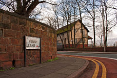 Penny Lane street sign Royalty Free Stock Photography