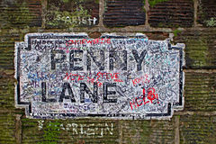 Penny Lane street sign Stock Photos