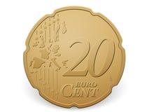 penny monet euro 20 Obrazy Stock