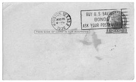 The Penny Postcard. Vintage Penny Postcard - Add your message royalty free stock images